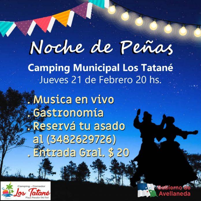 """Noche de peña en el Camping """"Los Tatané"""""""