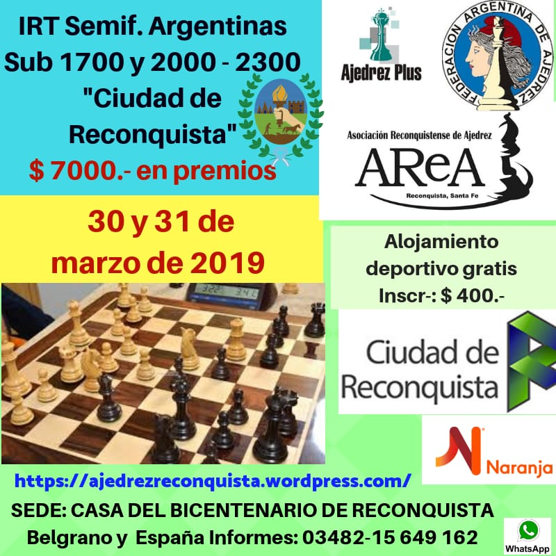 Torneo Internacional de Ajedrez en Reconquista