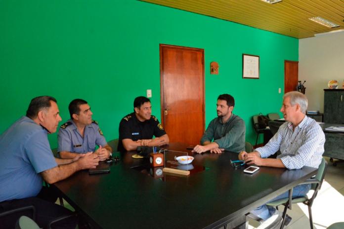 El Intendente Dionisio Scarpin se reunió con Fuerzas de Seguridad