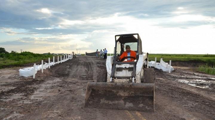 Habilitaron nuevamente el tránsito en el puente Mabey de Ruta Provincial N°1