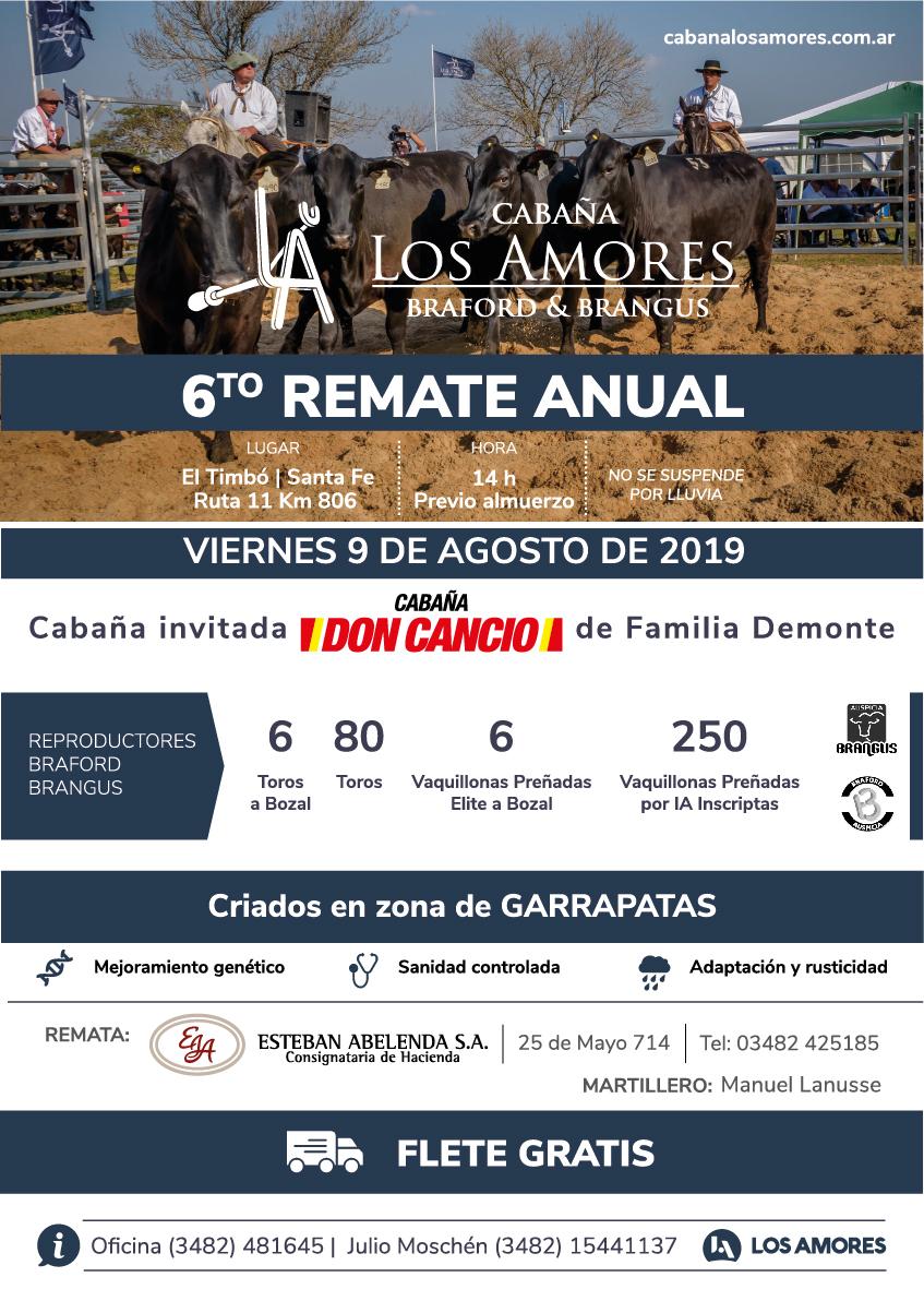 6° Remate Anual Cabaña Los Amores