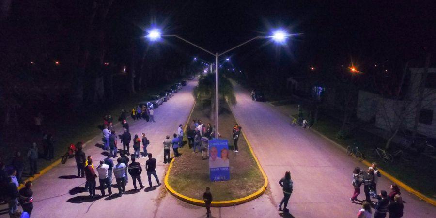 Malabrigo: encendieron las luces en Avenida General López