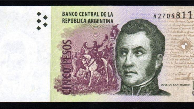 El Banco Central anunció que saldrán de circulación los billetes de 5 pesos