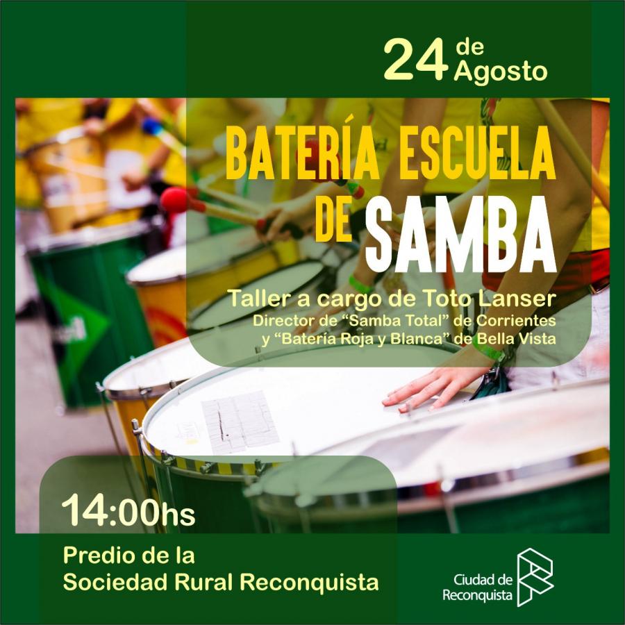 Taller de Batería Escuela de Samba