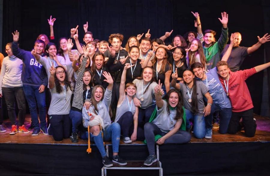 Jóvenes al escenario: el teatro tuvo su día en la Estudiantina