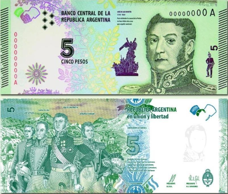 Los billetes de cinco pesos salen de circulación