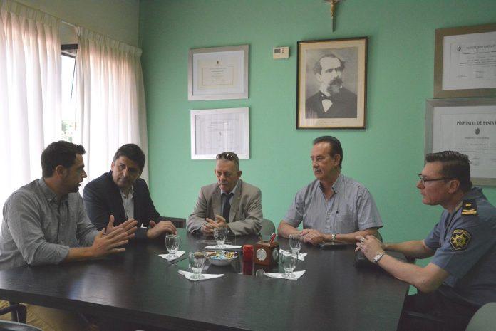 Avellaneda recibió la visita del Jefe de la Policía de Santa Fe