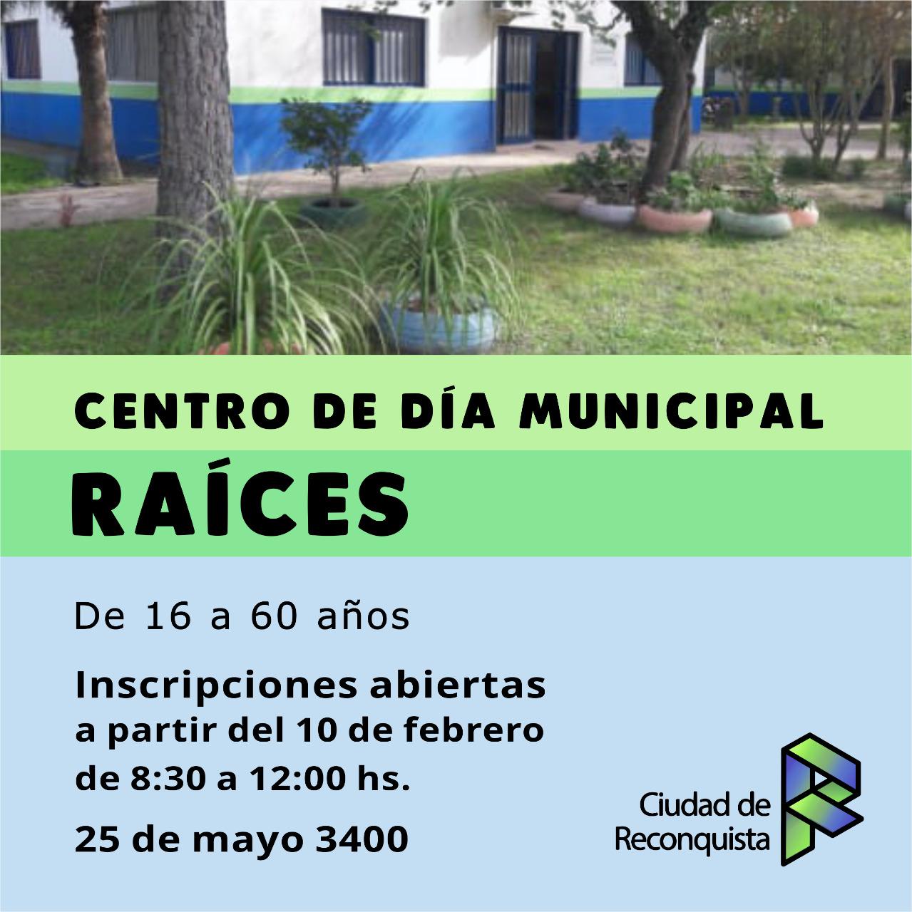Centro de Día Municipal Raíces: inscripciones abiertas