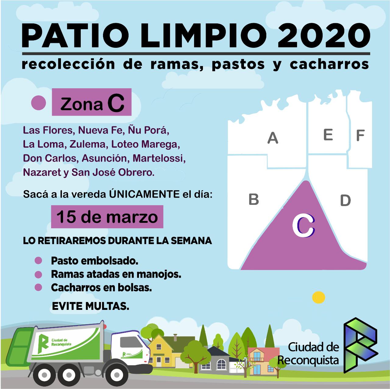 Patio Limpio 2020: este domingo 15 de marzo «ZONA C»