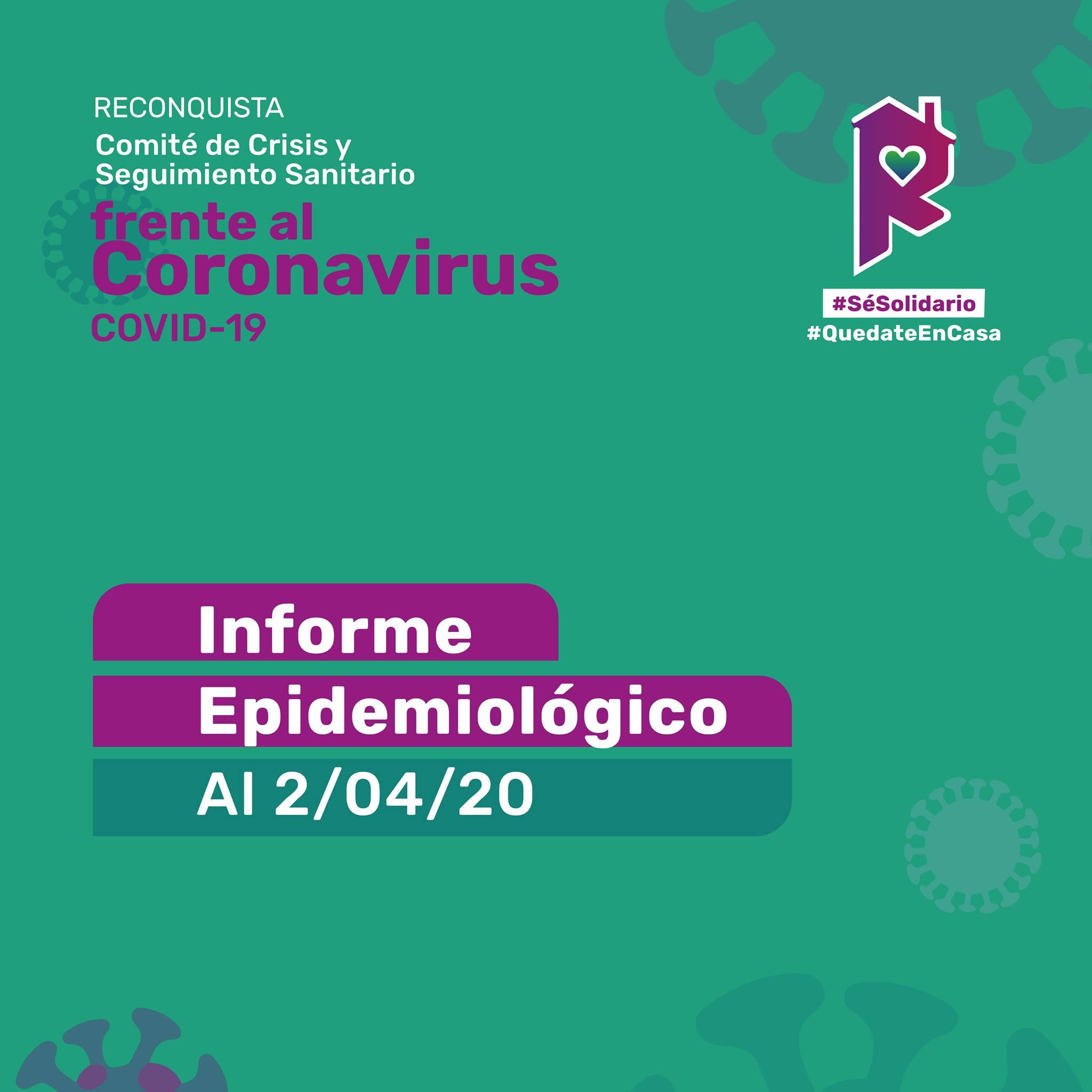 Reconquista: informe epidemiológico al 2 de abril a las 7 h