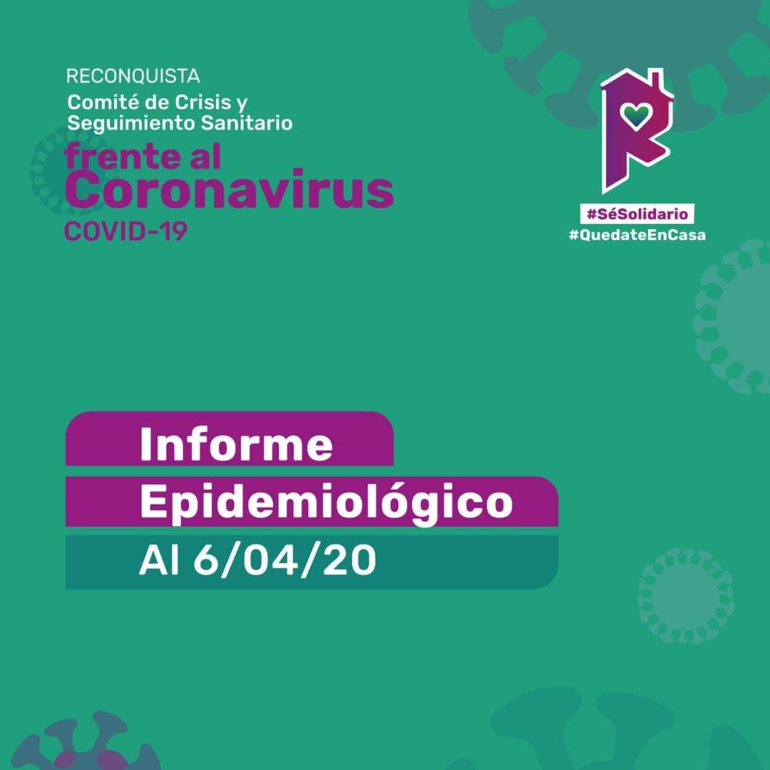Reconquista: informe epidemiológico al 6 de abril