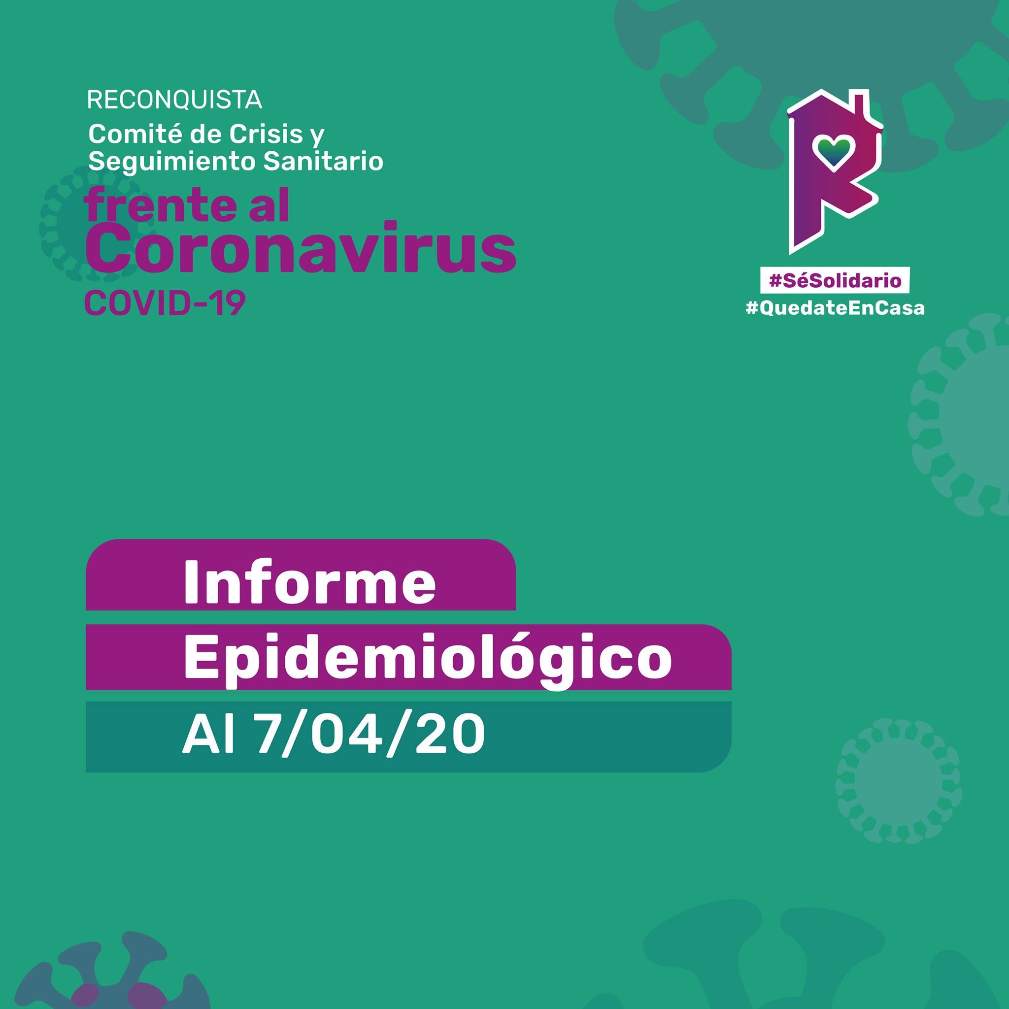 Reconquista: informe epidemiológico al 7 de abril