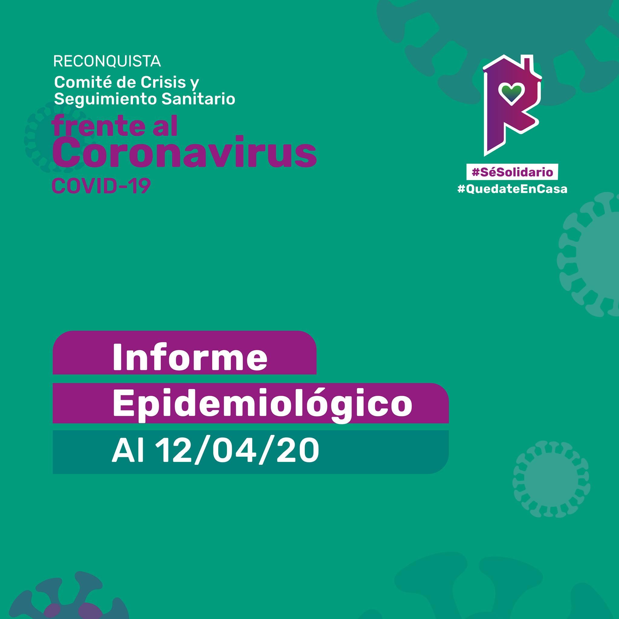 Reconquista: informe epidemiológico al 12 de abril
