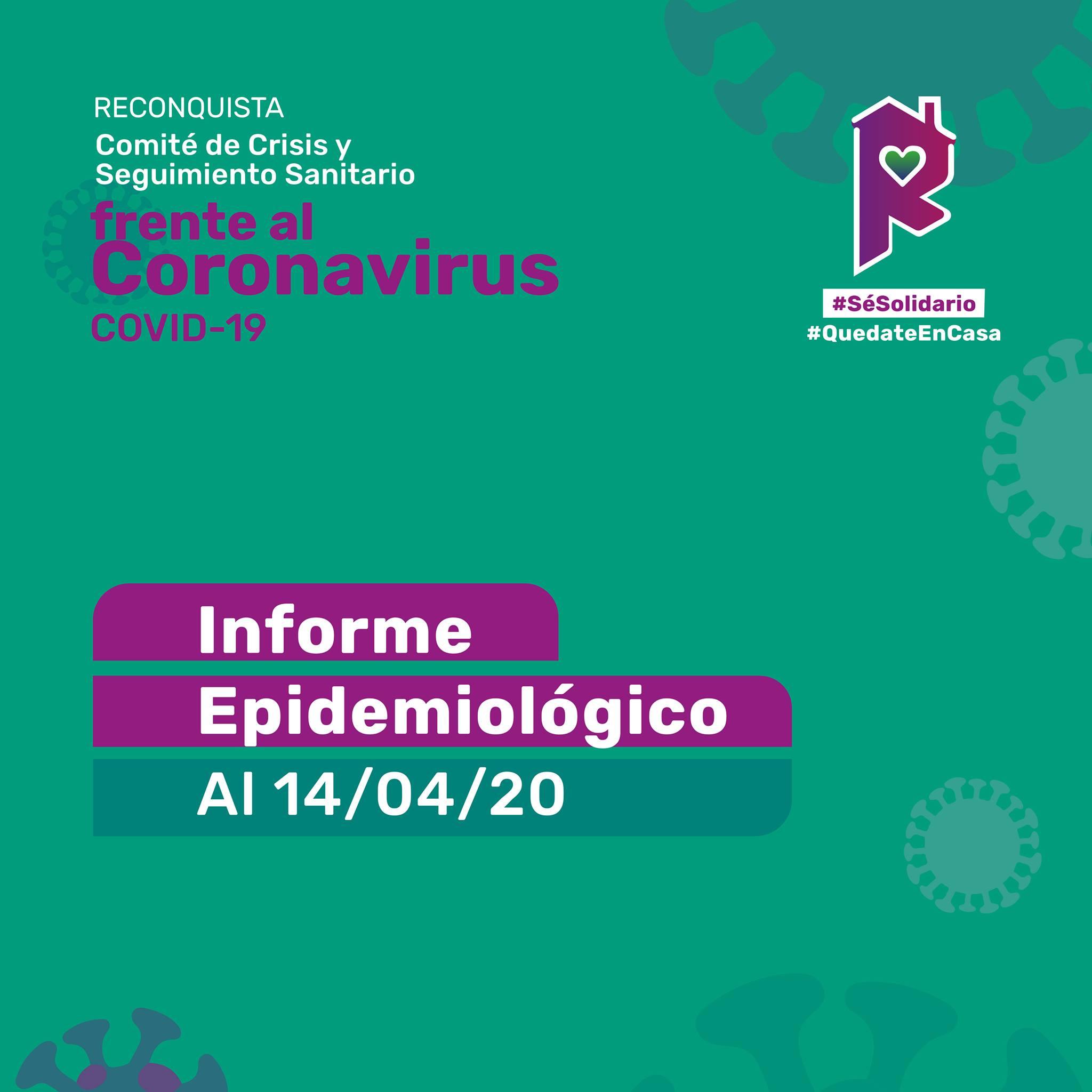 Reconquista: informe epidemiológico al 14 de abril