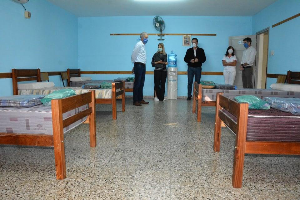 Avellaneda equipó su centro de aislamiento
