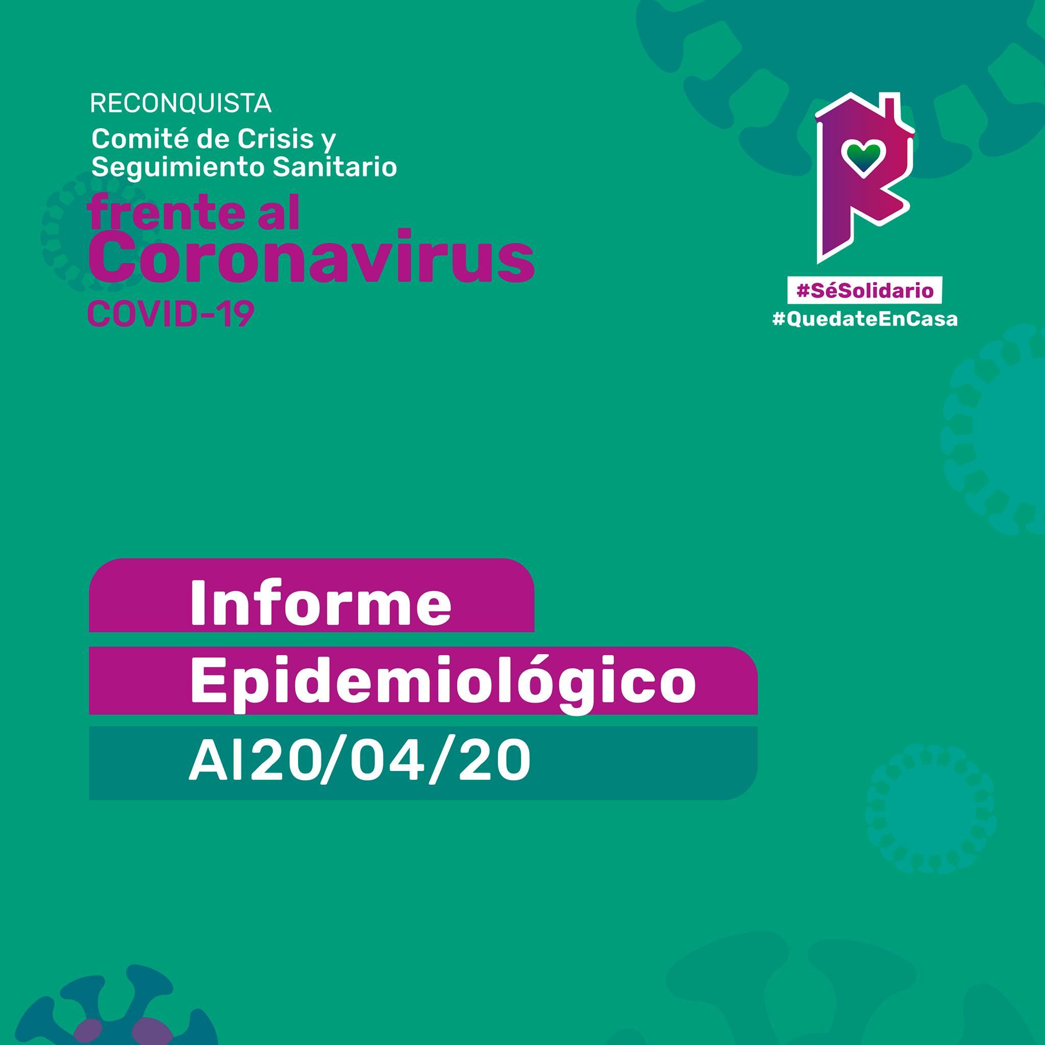 Reconquista: informe epidemiológico al 20 de abril