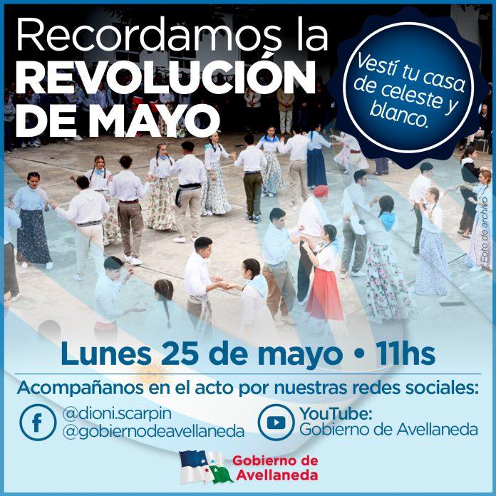 Avellaneda recordará la Revolución de Mayo de 1810