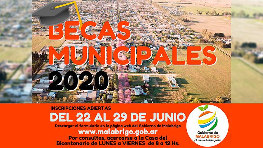 El Gobierno de Malabrigo lanzó el programa de Becas Municipales 2020