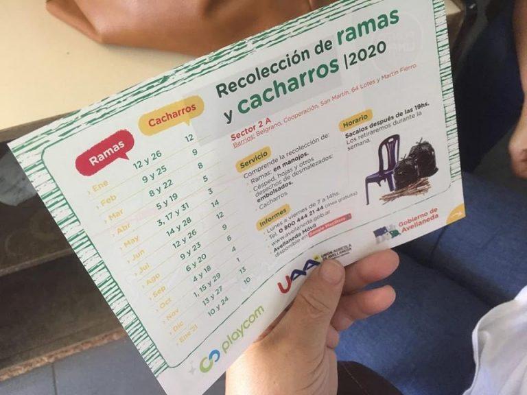 Recolección de ramas en Avellaneda: domingo 28 es el turno del sector 2 A