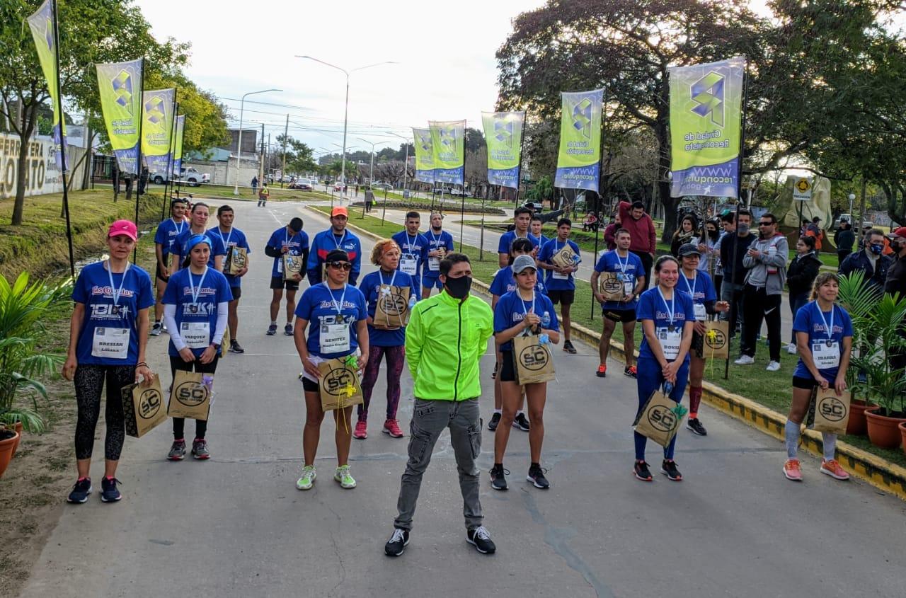 «Recreación 10K» Reconquista: con 20 atletas se realizó el simulacro de carrera