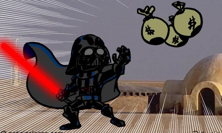 Ganador de lotería reclama su premio vestido de Darth Vader