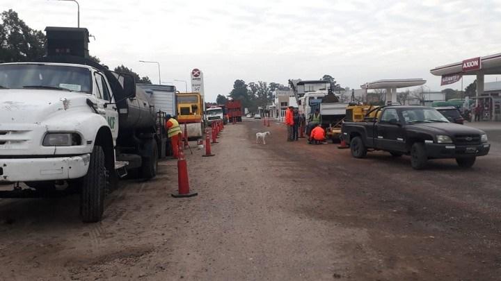 Vialidad Nacional ejecuta tareas sobre la Ruta 11 en Avellaneda