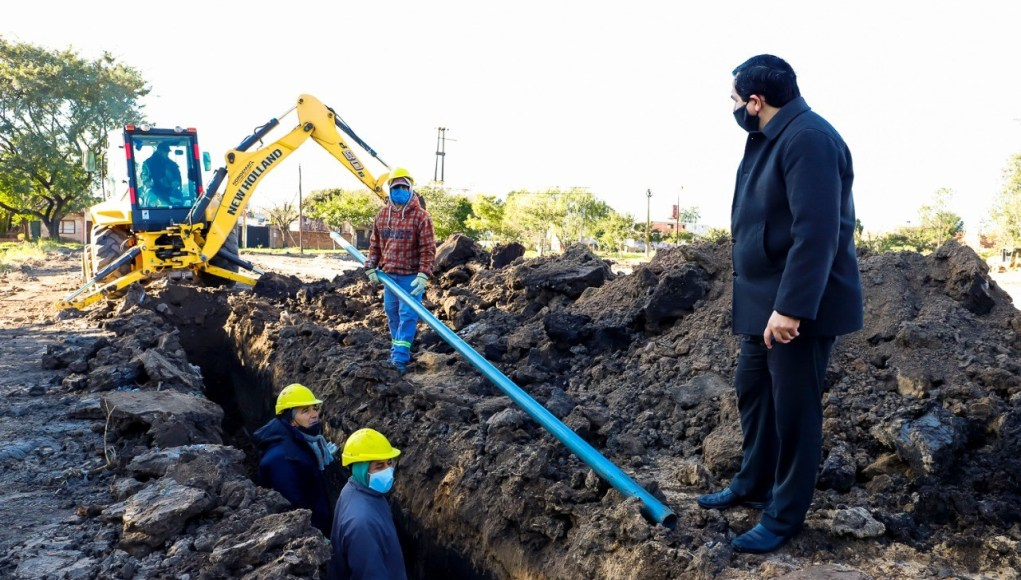 Municipio de Reconquista ejecuta obras de la red de agua potable