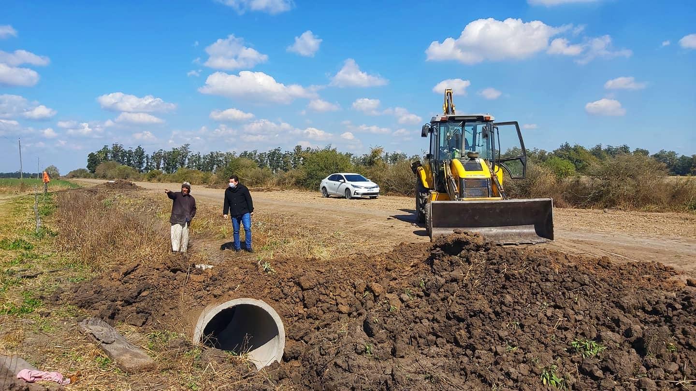 Trabajos de mejora en zona rural Campo Ramseyer