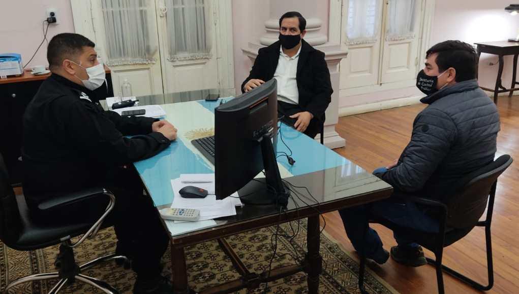 Vallejos y Sandrigo se entrevistaron con el nuevo jefe de policía