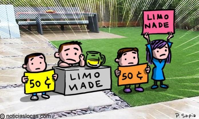 Puesto de limonada para niños ayuda a familia a sobrevivir durante la pandemia