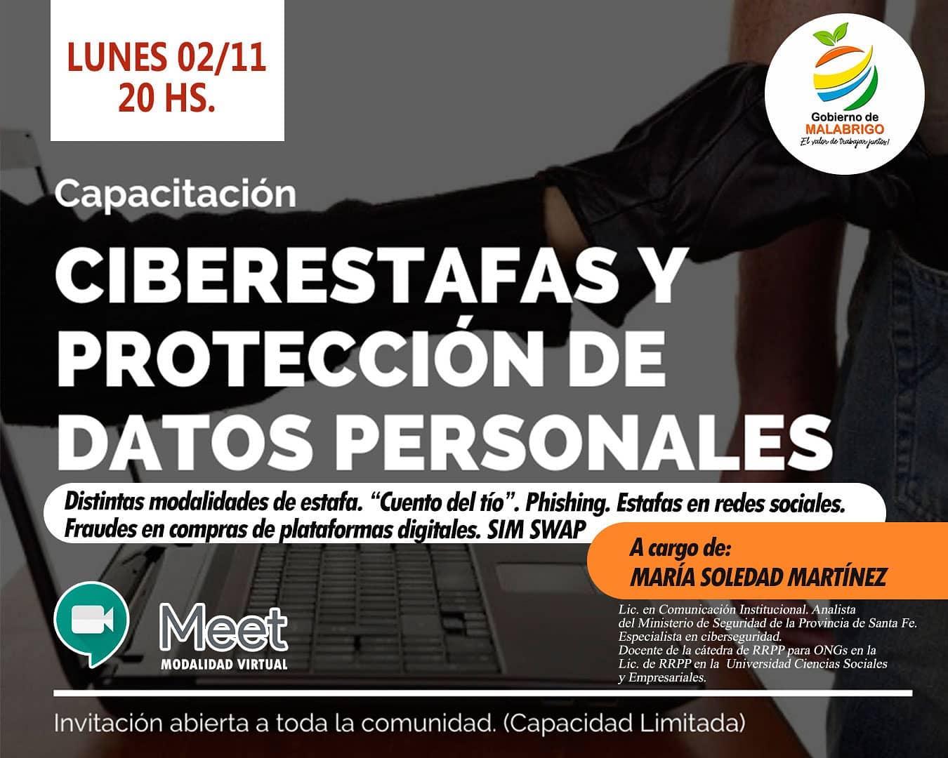 """Capacitación sobre """"Ciberestafas y protección de datos personales"""""""