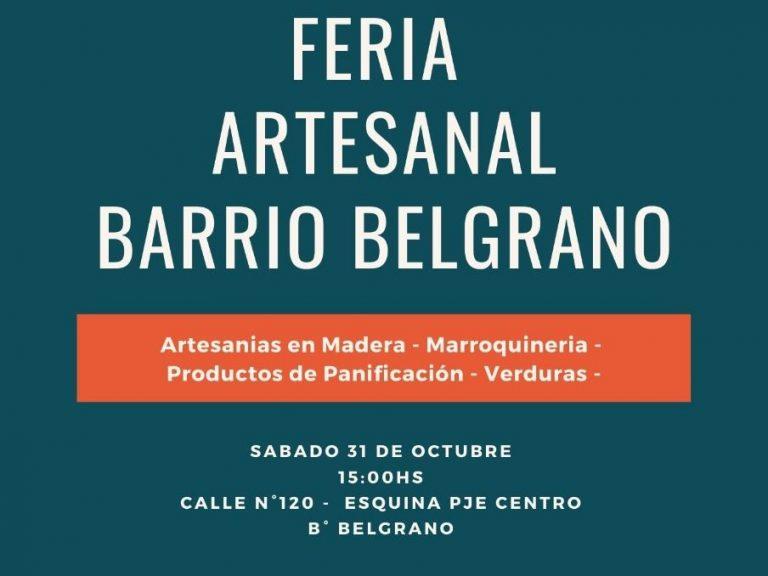Feria Artesanal en B° Belgrano