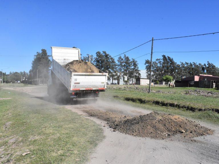 Avellaneda reconstruye arenados para una mejor transitabilidad