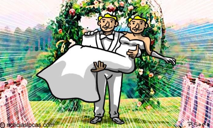 Su prometido lo abandonó y decidió casarse consigo mismo