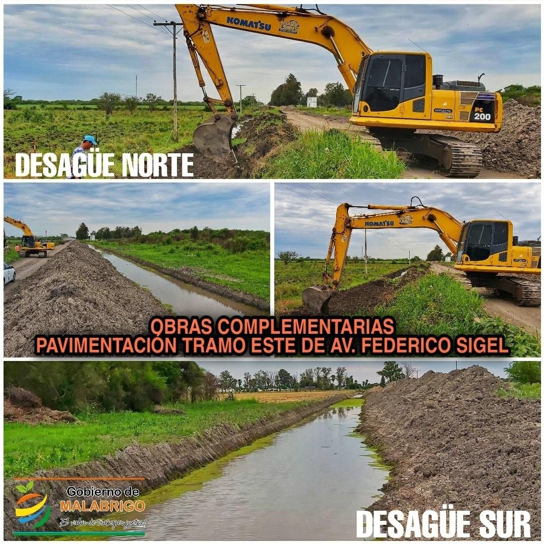 El Municipio avanza con las obras para la pavimentación de Av. Federico Sigel