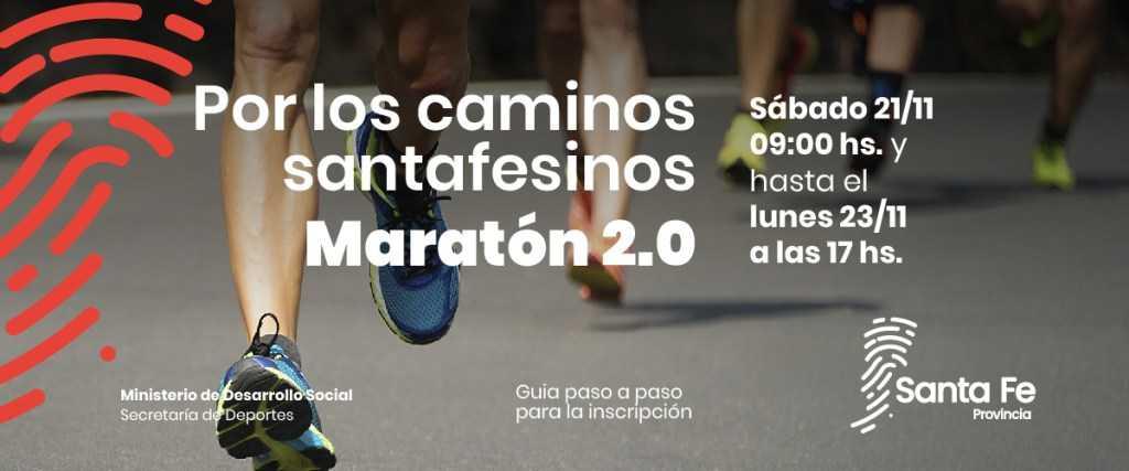 """Maratón virtual """"Por los caminos santafesinos, maratón 2.0"""""""