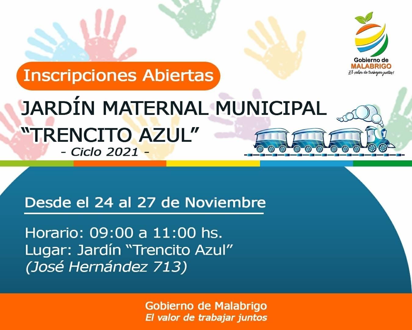 Malabrigo: comenzarán las inscripciones al «Trencito Azul» para el ciclo 2021
