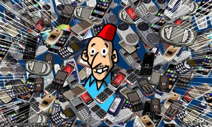 Una colección retro de más de 1.000 teléfonos móviles