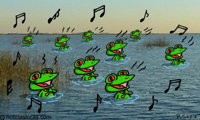 """Juez exige expulsar ranas de estanque por """"ruidosas"""""""