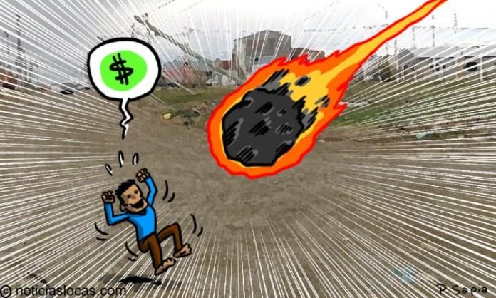 Un meteorito cae en su casa y se convierte en millonario