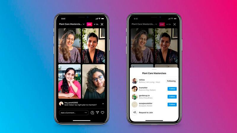 Instagram suma hasta tres invitados en sus transmisiones en vivo