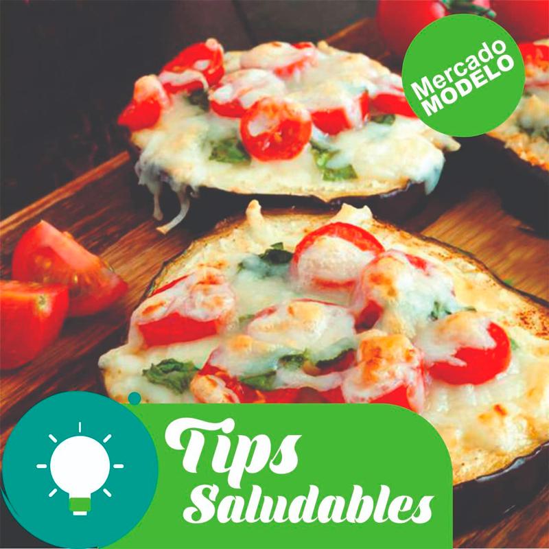 Tips saludables: Mini pizzas de berenjena