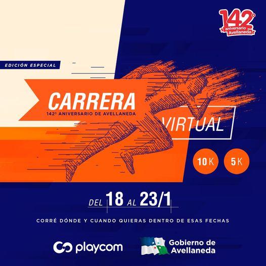 CARRERA VIRTUAL 142º ANIVERSARIO DE AVELLANEDA