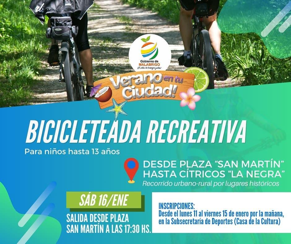 Malabrigo: Bicicleteada Recreativa para niños