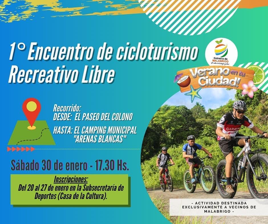 Verano en tu Ciudad: 1° Encuentro de Cicloturismo Recreativo Libre