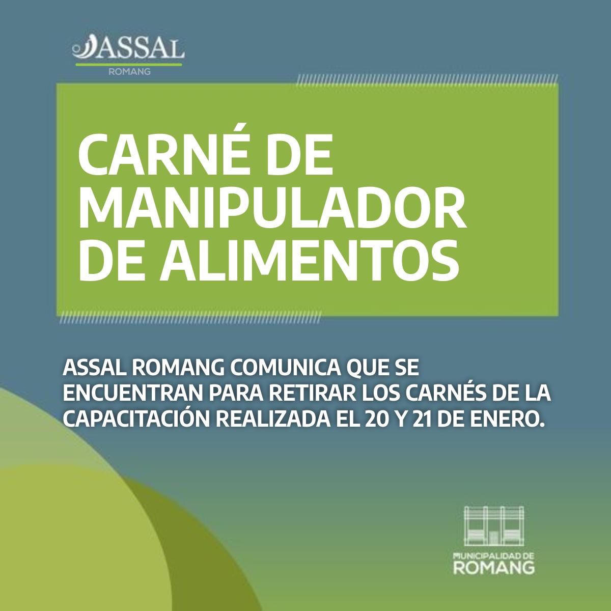 Romang: Carnet de Manipulador de Alimentos