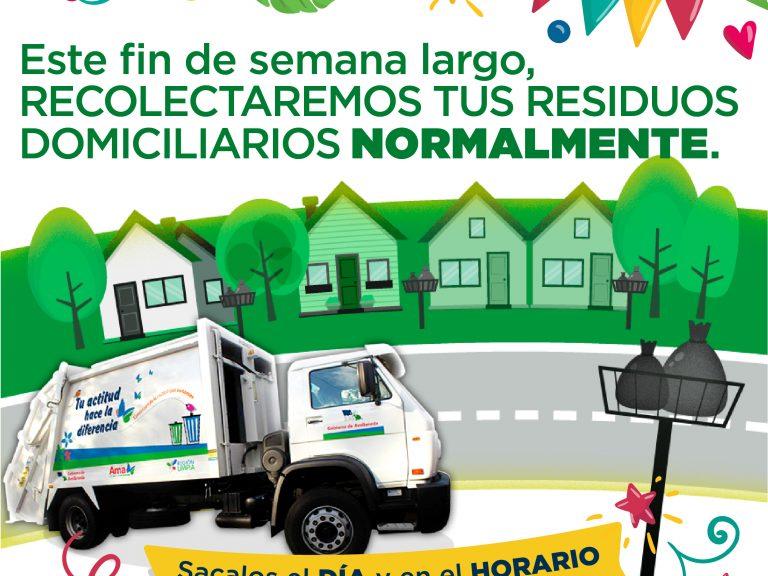 Cronogrma de servicios durante el fin de semana largo en Avellaneda