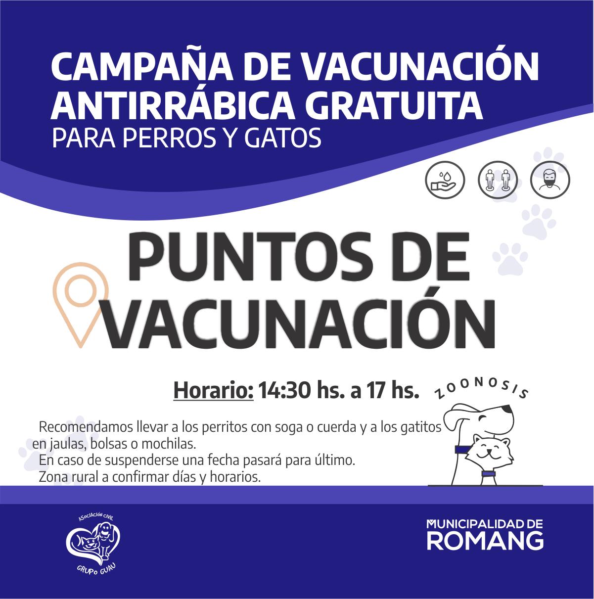 Romang: Vacunación Antirrábica 2021