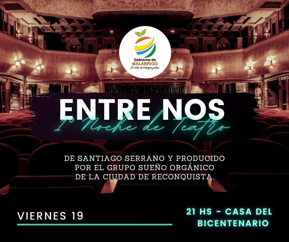 "Malabrigo: Velada teatral: ""ENTRE NOS"""