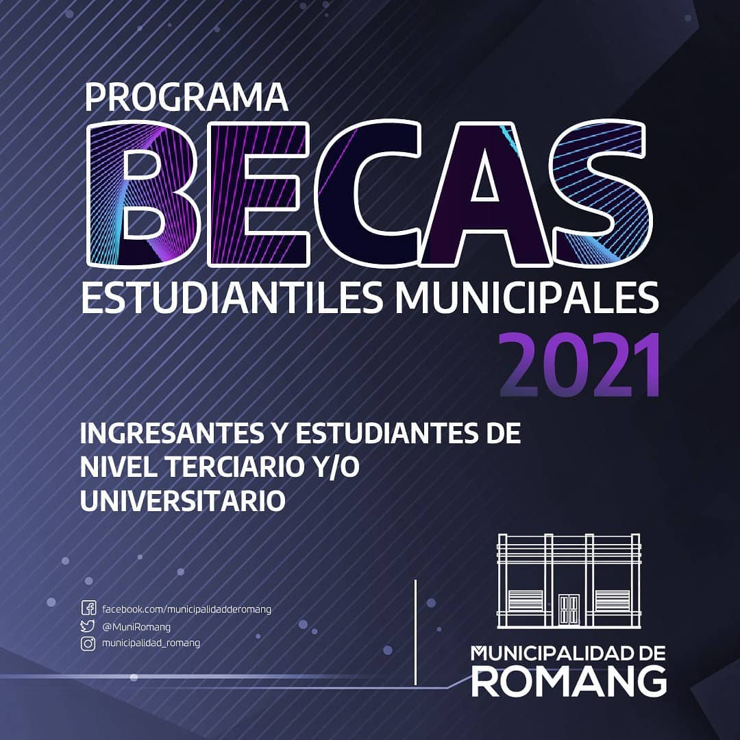 Romang: Programa de Becas Estudiantiles Municipales 2021